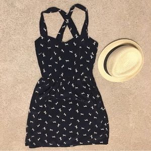 Everly summer dress with horse pattern